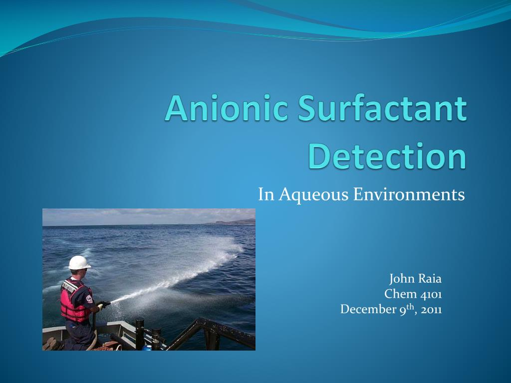 anionic surfactant detection l.