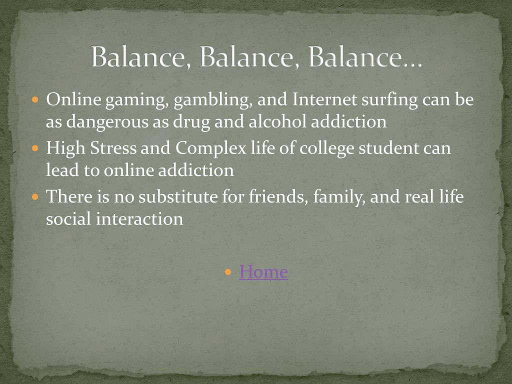 Balance, Balance, Balance…
