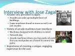 interview with jose zagal