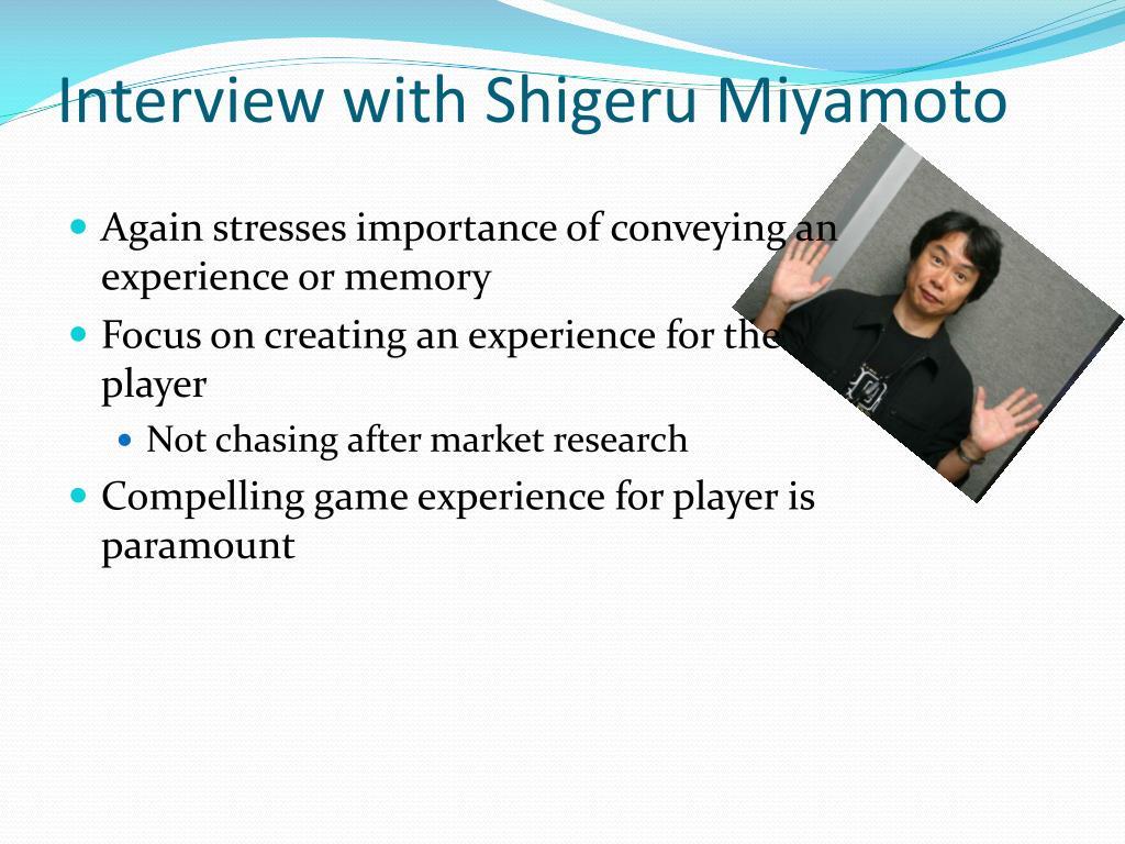 Interview with Shigeru Miyamoto