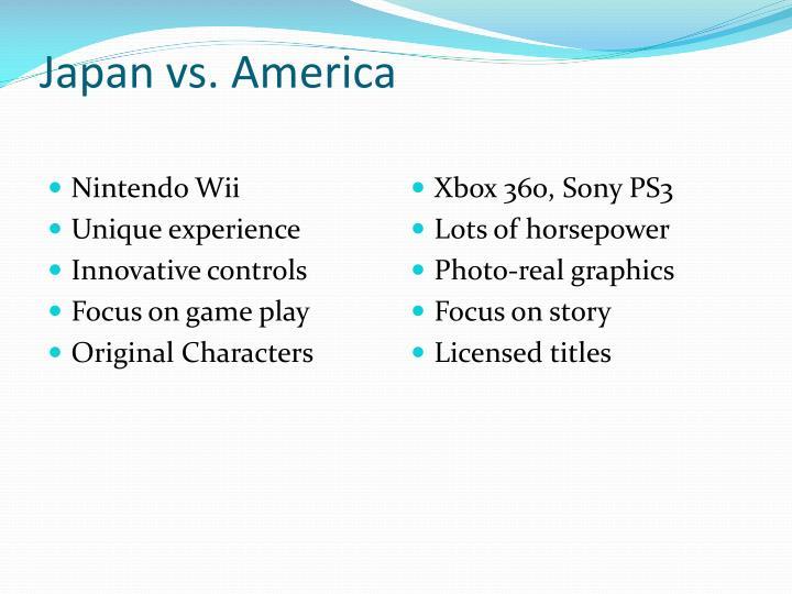 Japan vs america