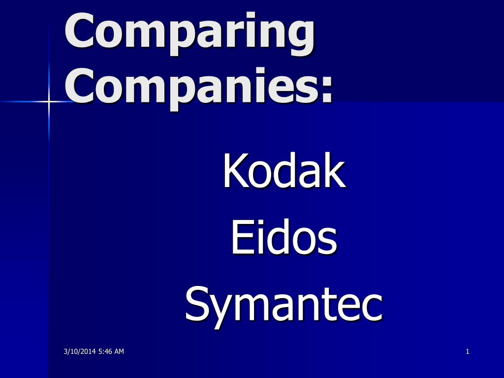 comparing companies l.