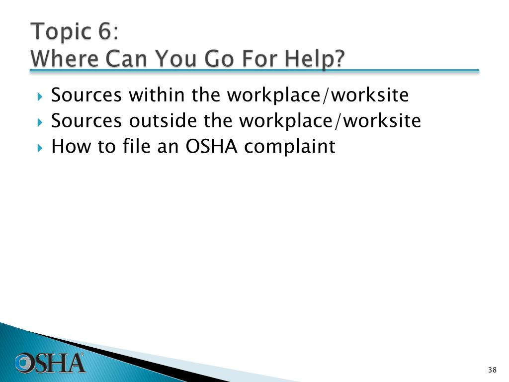 Sources within the workplace/worksite