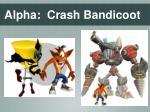 alpha crash bandicoot