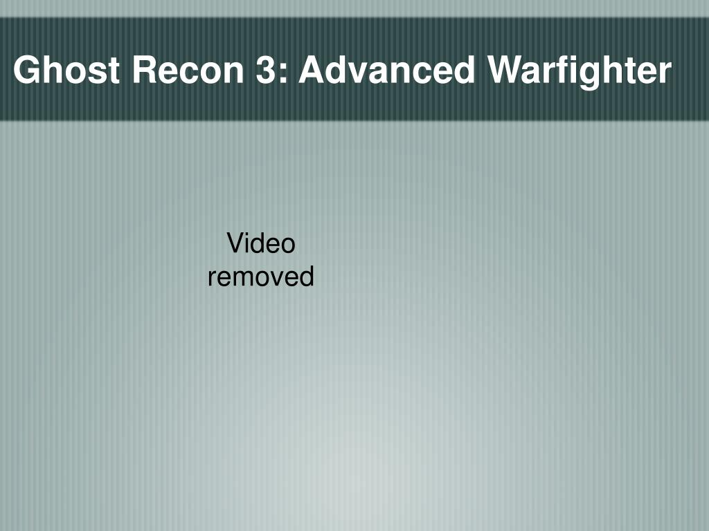 Ghost Recon 3: Advanced Warfighter