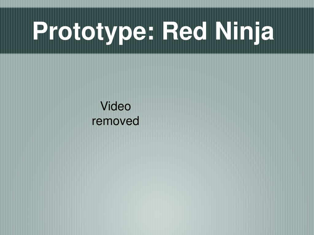 Prototype: Red Ninja
