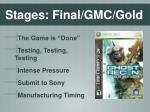 stages final gmc gold