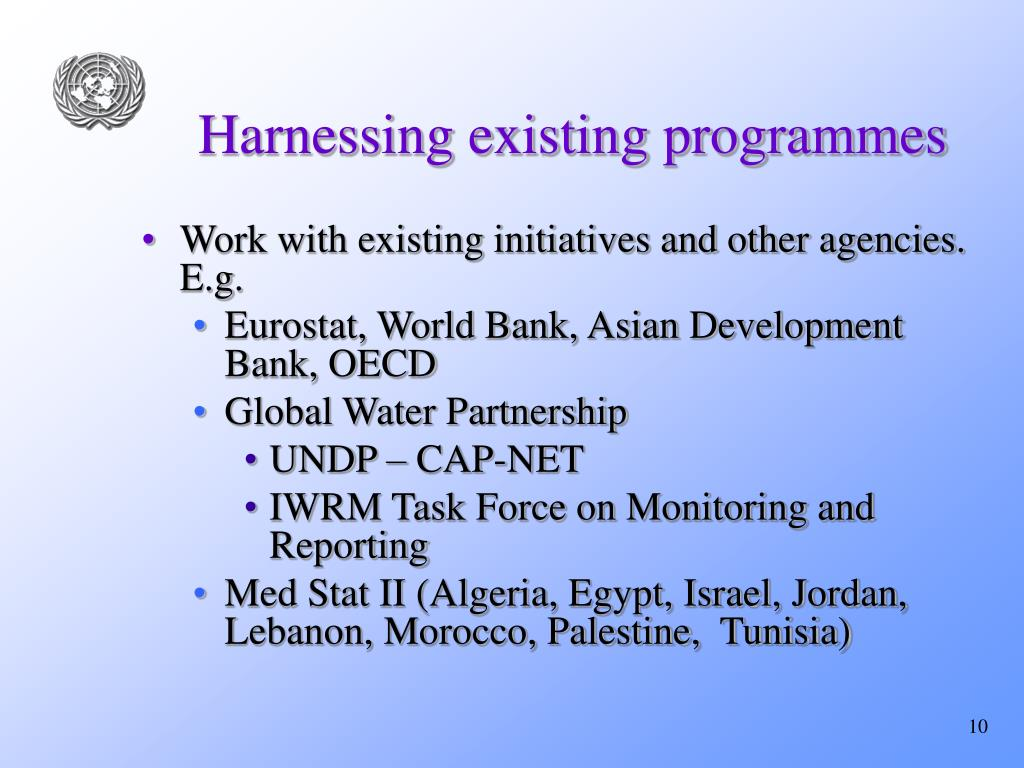 Harnessing existing programmes