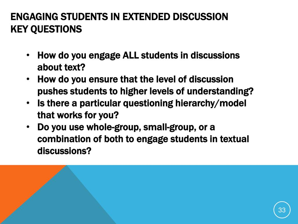 Engaging Students in Extended Discussion