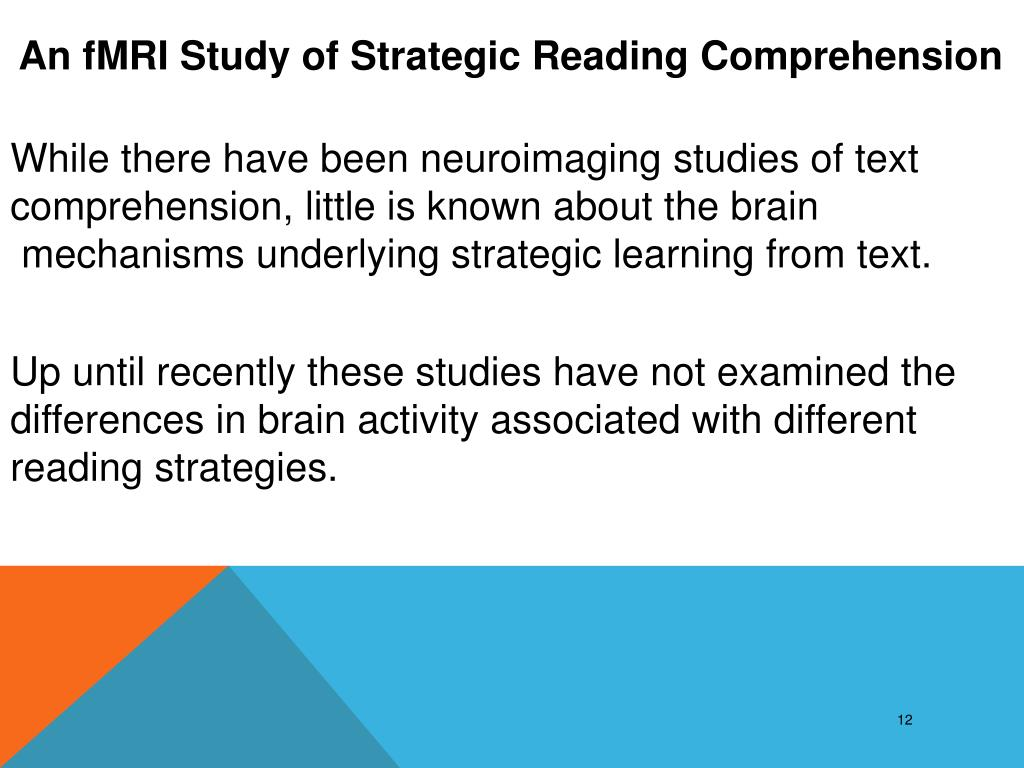 An fMRI Study of Strategic Reading Comprehension