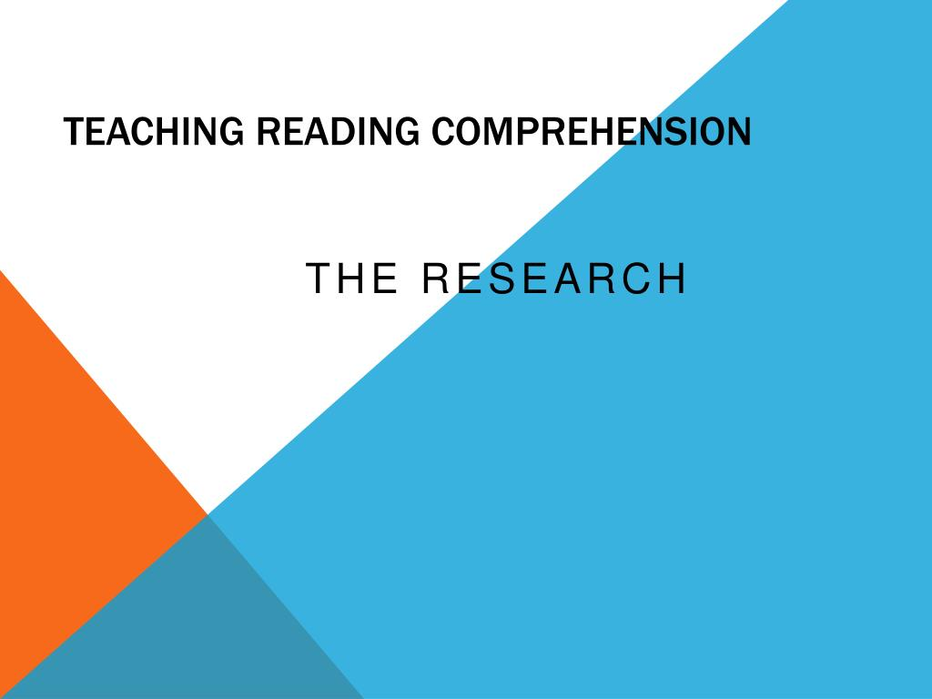 Teaching Reading Comprehension