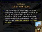 hardware user interfaces