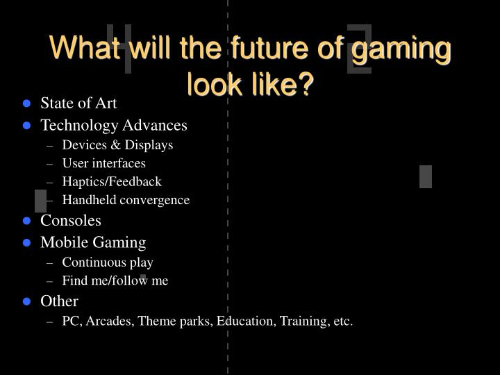 What will the future of gaming look like