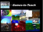 games to teach