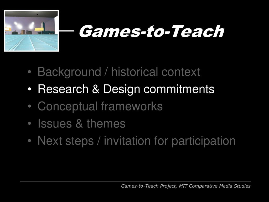 Games-to-Teach