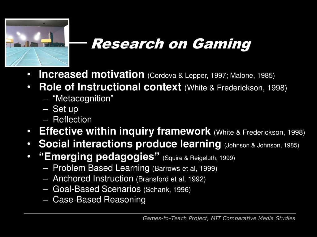 Research on Gaming
