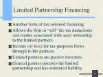 limited partnership financing