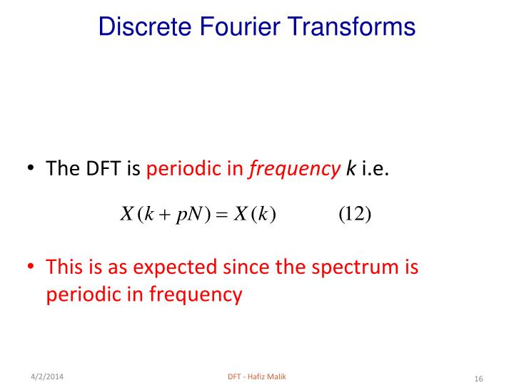 how to get frequency for dft