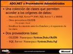 ado net y proveedores administrados