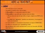 ado vs ado net 1 2