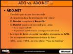 ado vs ado net 2 2