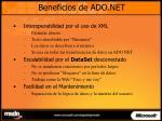 beneficios de ado net