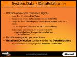 system data datarelation 1 2