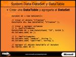 system data dataset y datatable