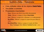 system data dataview