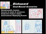 biohazard goal based scenarios