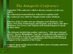 the annapolis conference
