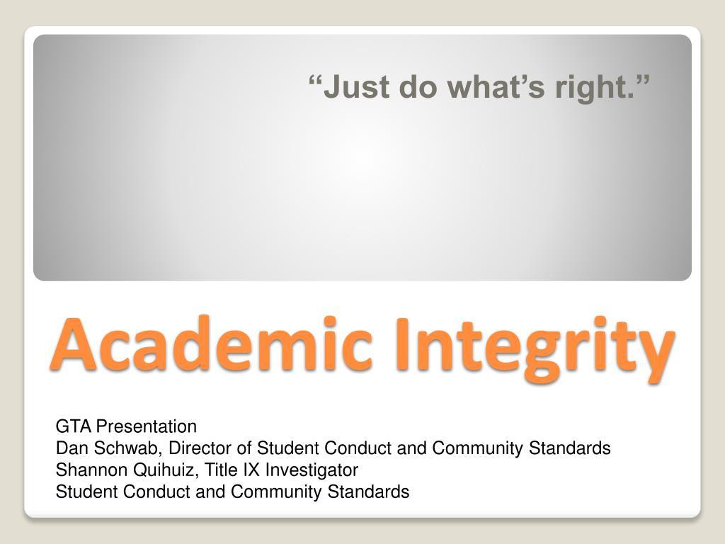 academic integrity l.