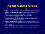 about cosmo group