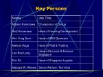 key persons