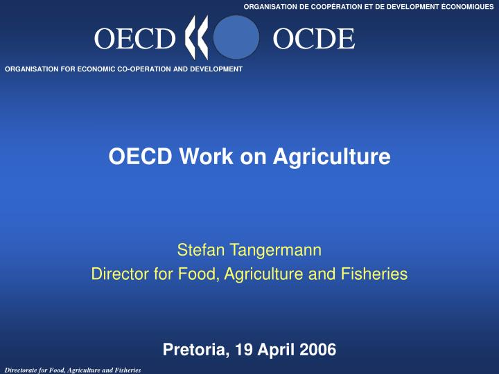 oecd work on agriculture n.