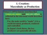 1 creation masculinity as production