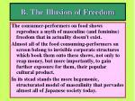 b the illusion of freedom