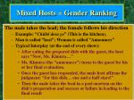 mixed hosts gender ranking