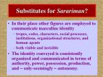 substitutes for sarariman