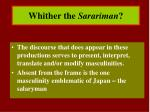 whither the sarariman