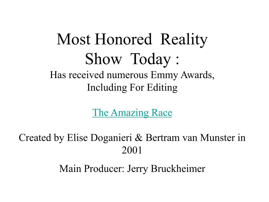Most Honored  Reality