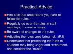 practical advice10