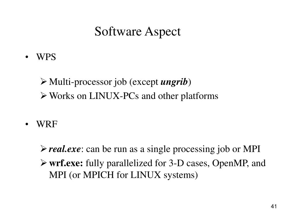 Software Aspect