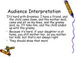 audience interpretation26