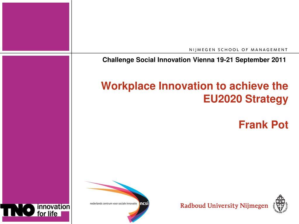 challenge social innovation vienna 19 21 september 2011