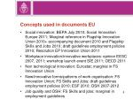 concepts used in documents eu