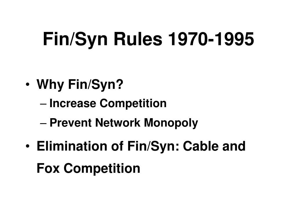 Fin/Syn Rules 1970-1995