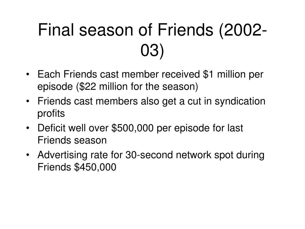 Final season of Friends (2002-03)