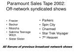 paramount sales tape 2002 off network syndicated shows