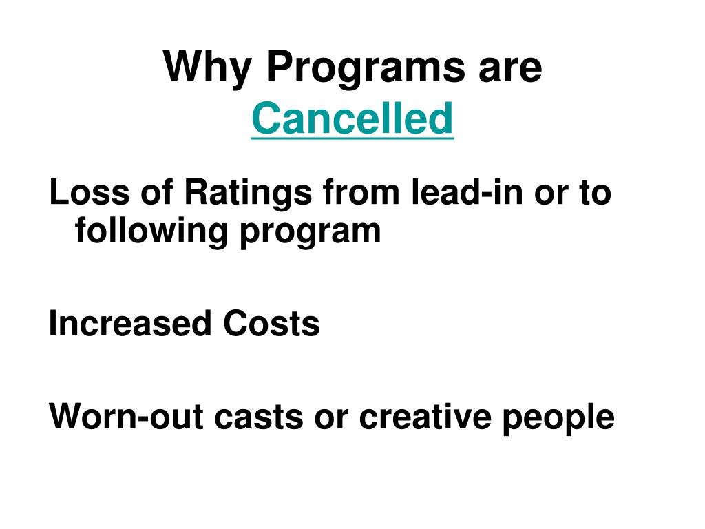 Why Programs are